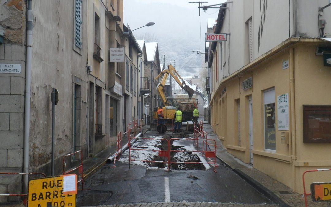 Début des travaux rue du Bessac