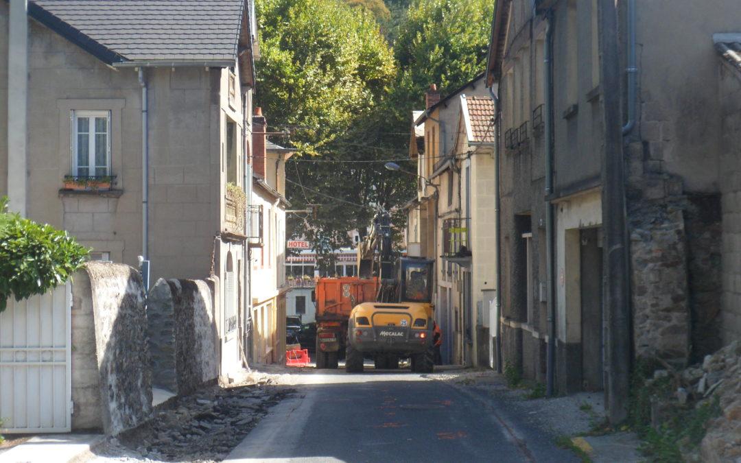 Début des travaux des rues du Bessac et Lina Margy