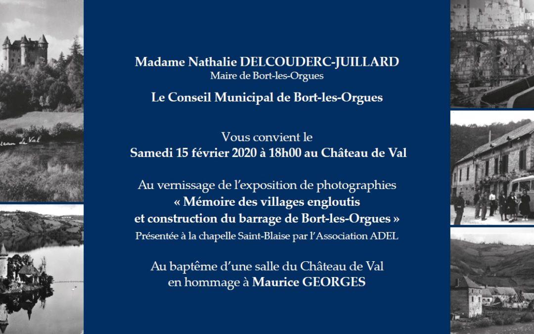 Invitation à l'inauguration de l'exposition «Mémoire des Villages Engloutis» et à l'hommage à Maurice GEORGES