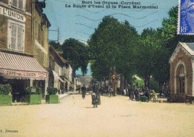 Route d'Ussel et Place Marmontel